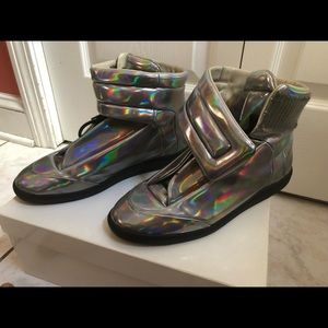 Maison Martin margiela metallic silver sneakers